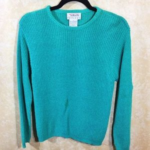 Talbots  Pullover  Sweater Petite: Green Teal